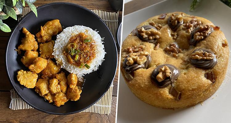 Poulet à l'orange, Hlalem au poulet, tarte amande  noix et dattes - Koujinet Romdhan 4 EP 12