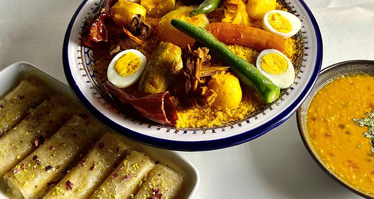 Soupe de lentilles indienne, Couscous au kadid, Znoud El-Sit - Koujiet romdhan 04 Ep 14