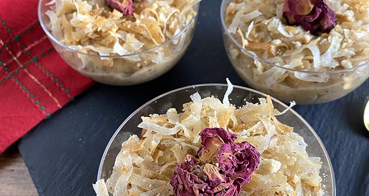 Salade tunisienne au pomme , Penne aux calamars farcis, Crème d'amande - Koujinet Romdhan 4 EP4