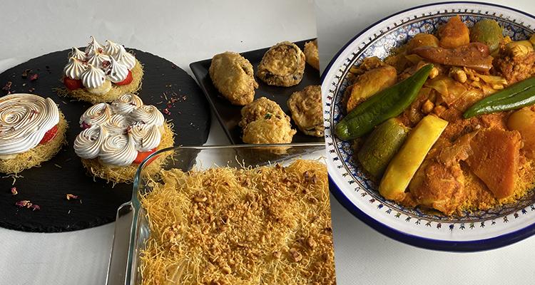 Mbaten, TAjine Malsouka, Couscous au poulet, Tarte kounefa - Koujinet romdhan 4 Ep 26