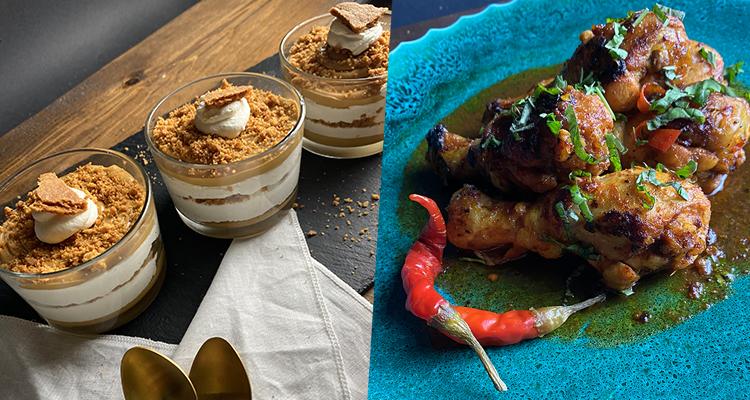 شربة لسان عصفور بالكروفات, دجاج مشوي، كؤوس بالسبيكولوس والجبن - كوجينة رمضان 4 - الحلقة 22