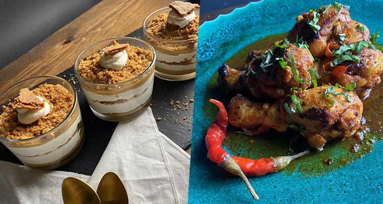 Soupe langue d'oiseau, Poulet grillé, Verrines spéculoos cheese - Koujinet Romdhan 4 Ep 22