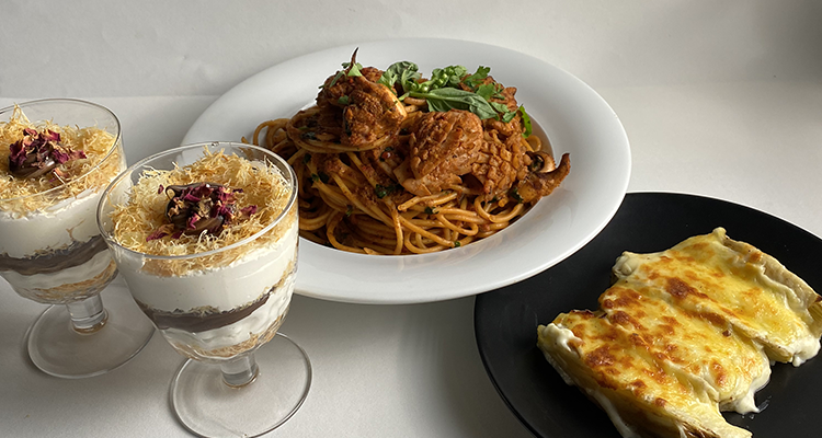 Gratin de fenouil, Spaghetti aux seiches, Tiramisu avec kounefa - Koujinet Romdhan 4 Ep 25