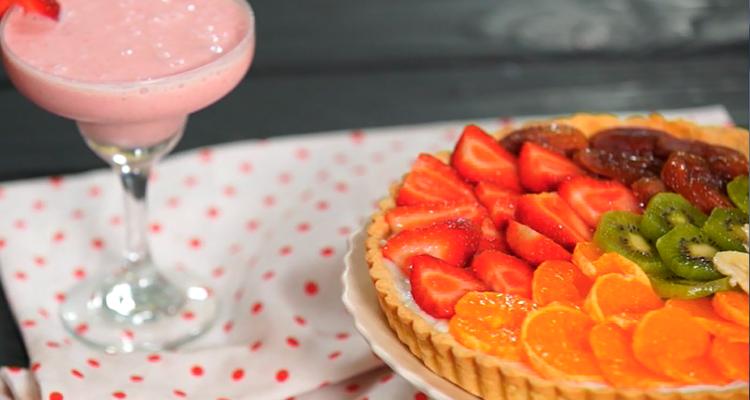 Tarte aux fruits, Smoothie fraise banane - Har w Hlow ep 74