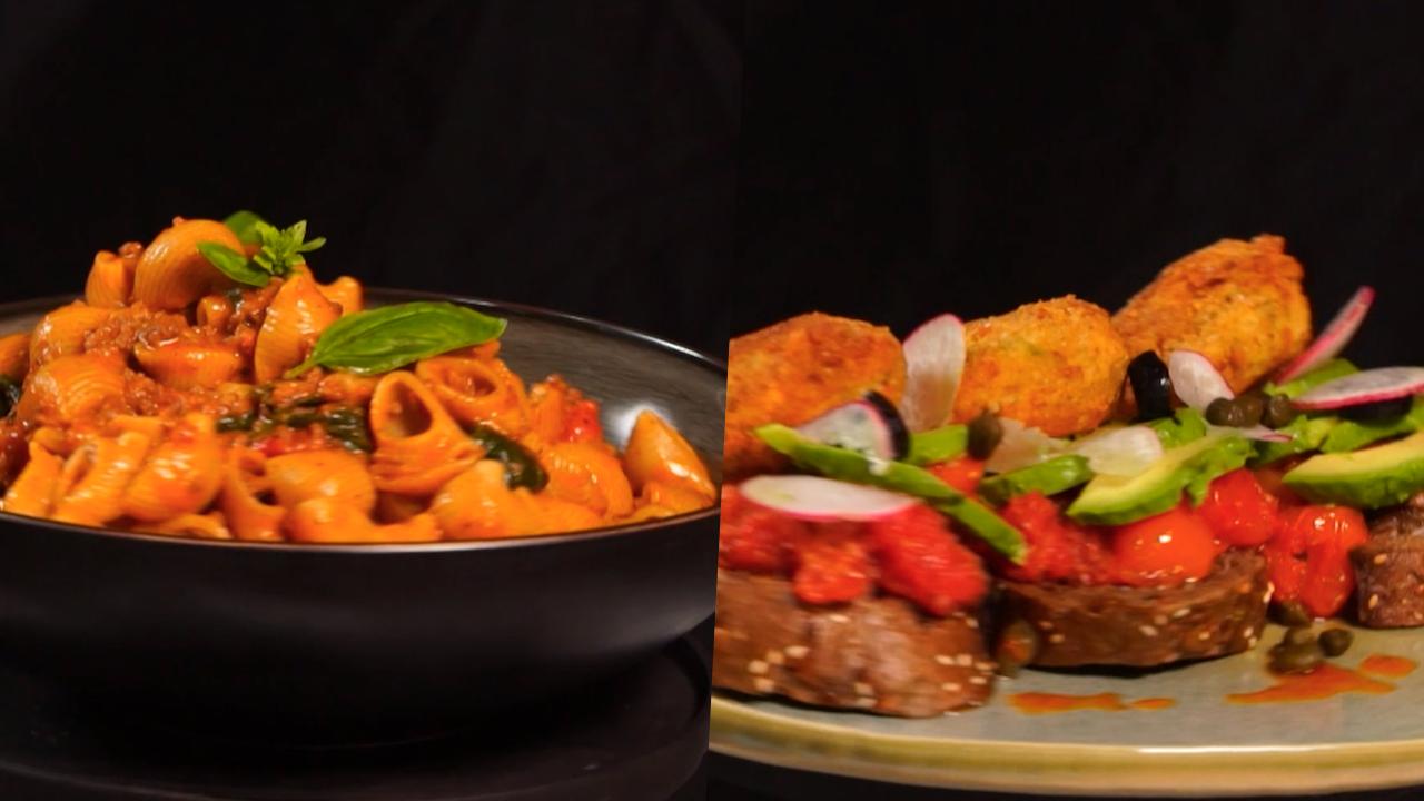 ريقوتة مقرمشة, مقرونة باللحم المفروم,أم علي - كوجينة رمضان 4 - الحلقة 20