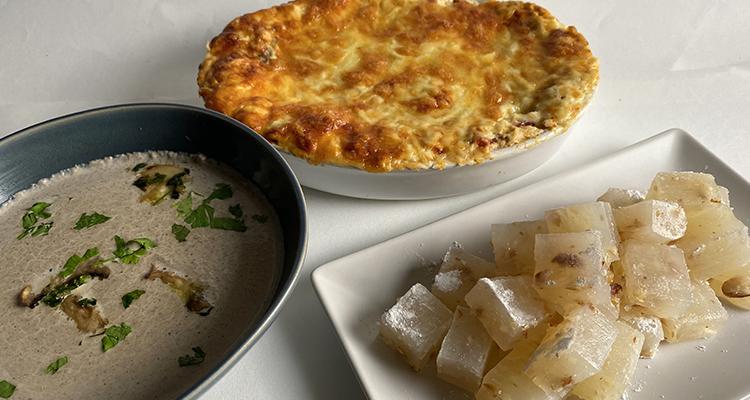 Velouté aux champigons, Lasagnes Bolognaises, Loukoum - Koujinet romdhan 4 Ep 24