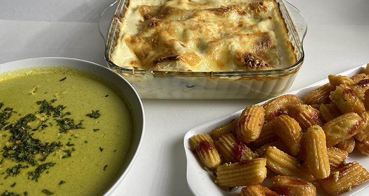 Soupe aux légumes, Lasagne au poisson, Balah El cham - Koujinet Romdhan 4 - Ep 28