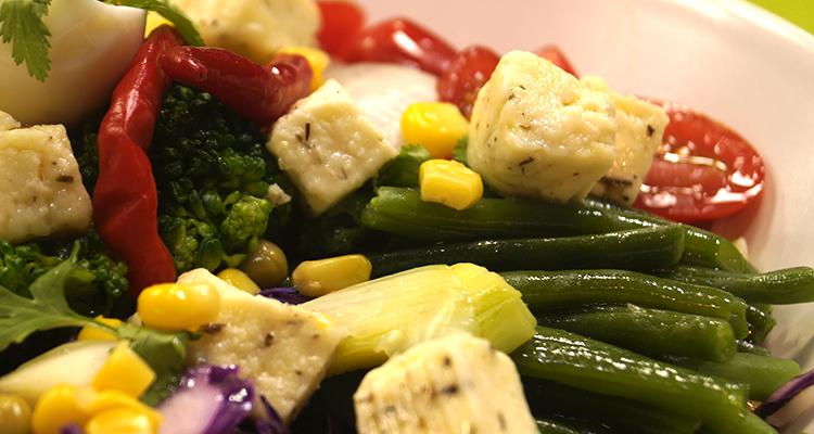 Salade de haricots verts et sa vinaigrette