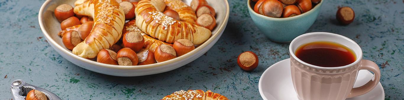 Petits croissants noisettes