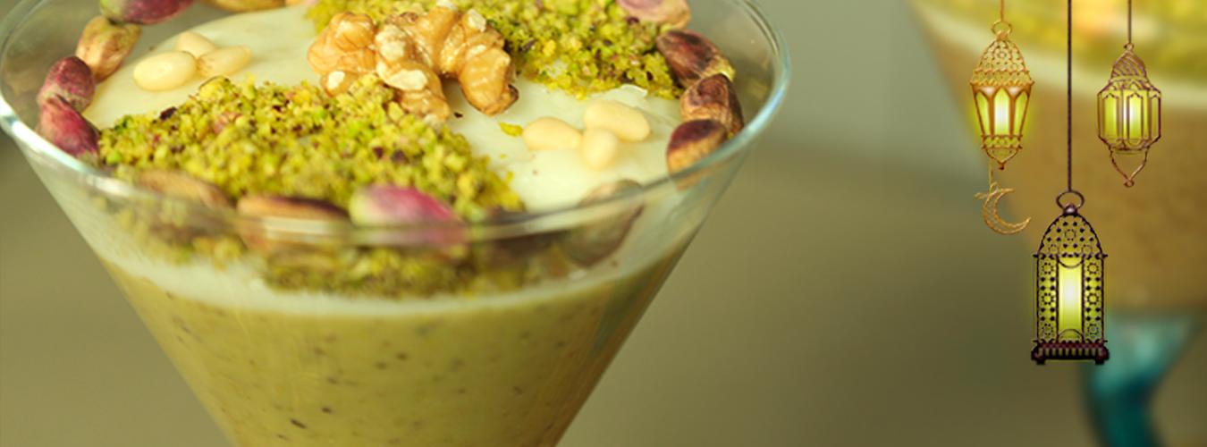 Assida pistache (Crème aux pistaches)