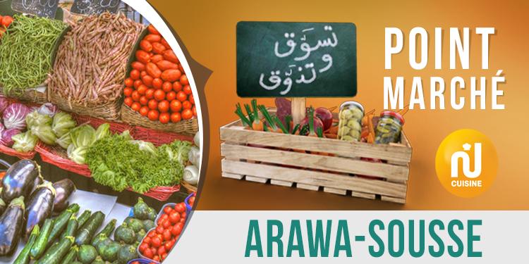 Point marché : Arawa - Sousse