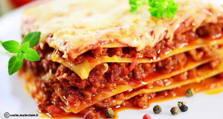 Menu du jour : Lasagnes à la bolognaise